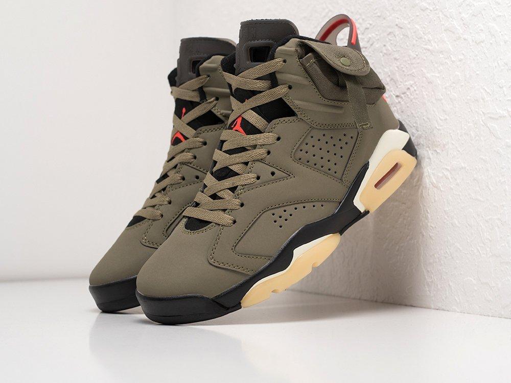 Кроссовки Nike x Travis Scott Air Jordan 6 (16925)