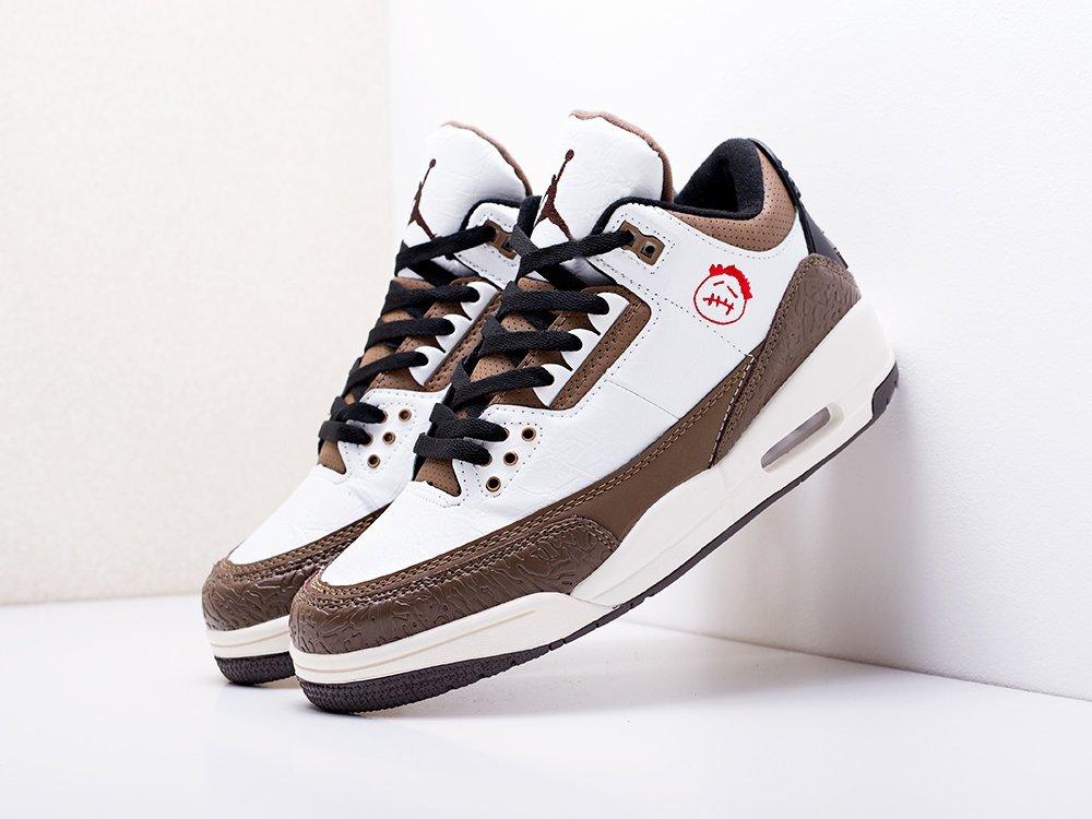 Кроссовки Nike Air Jordan 3 x Travis Scott  (17227)