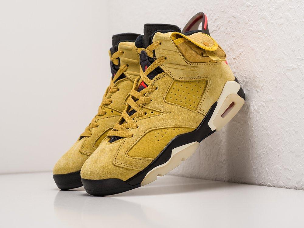 Кроссовки Nike x Travis Scott Air Jordan 6 (17821)